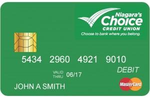NCFCU member's debit card